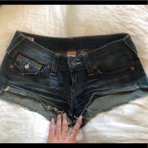 True Religion cutoff shorts - 29